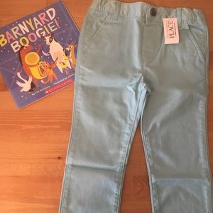 NWT Children's Place Blue Chino Pant &FREE Book